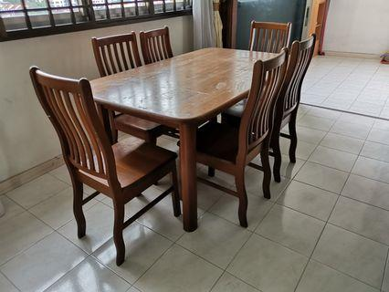 Dressing Table, fridge, dinning table with 6 chairs