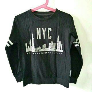 Kaus anak hitam lengan panjang NYC