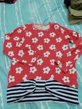 二手日本名牌moujonjon女童衛衣