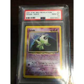 Pokemon Card Celebi Neo Revelation PSA 10