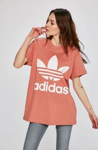 🚚 Adidas Originals Trefoil 短袖 長板 粉色 CE2439