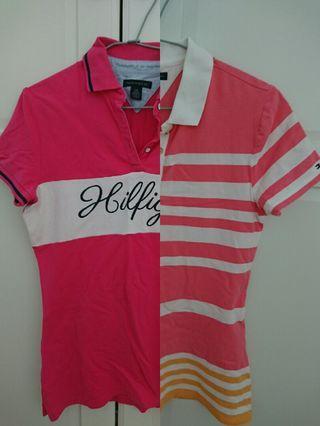 9成新TOMMY HILFIGER 女大人短袖POLO衫 S號 $699/每件