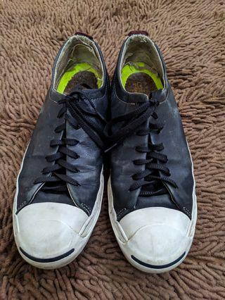 Convers Jack Purcell Low Black Leather size 43