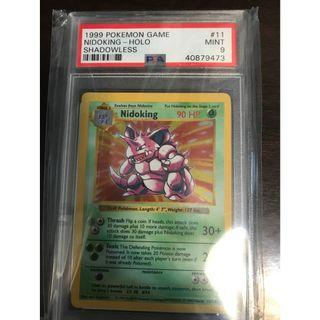 Pokemon Card Nidoking (尼多王) Shadowless Base Set PSA 9