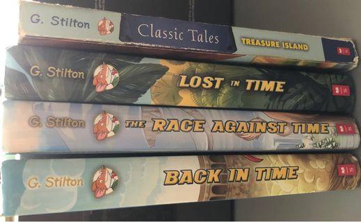 Pre-owned Geronimo Stilton Back in Time Series Story Books (Very Good condition)