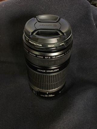 Canon zoom lens 55-200mm