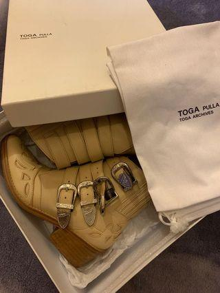 Toga Puella Buckle Ankle Boots