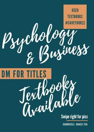 PSYCH & FINANCE TEXTBOOKS (USED) AVAILABLE