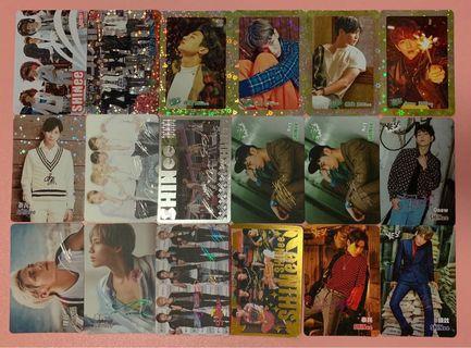 Shinee yes card 夜光,閃咭,簽名,白咭