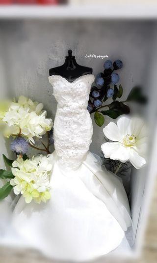 禮物/Wedding gown gift/絲花/永生花/結婚禮物/給閨蜜,朋友或親友的一點心意/30x20x10cm