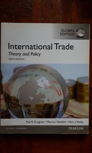 International Trade: Theory and Policy (10th ed)