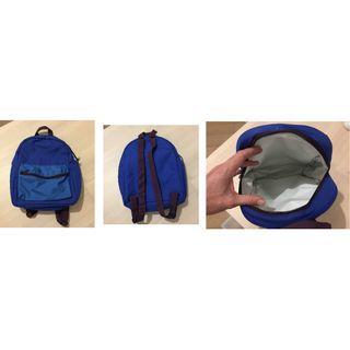Blue Cooler backpack with 1 front Pocket