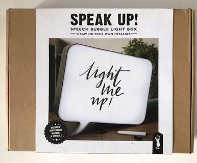 Speech bubble lightbox