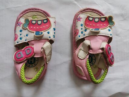 Baby Girls Learning Shoes