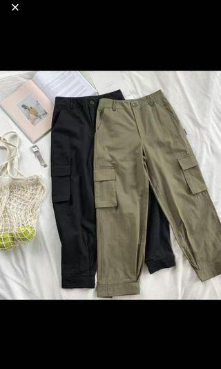 🚚 Green Retro Cargo Pants
