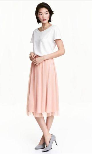 🚚 可搭買三送一 🤶🏻歐美 粉色紗裙 夏天的裙子 H&M 正版 輕薄材質💓😍