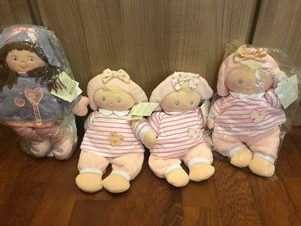 🚚 Gund Baby USA dolls- New