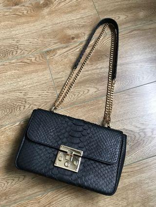 Suzette black shoulder/sling bag
