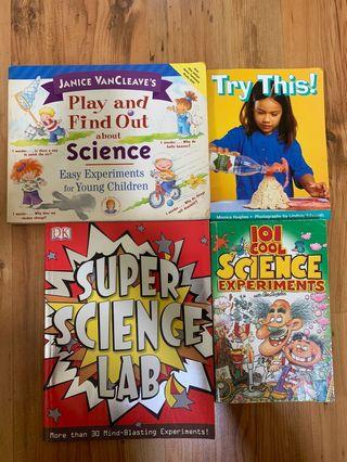 Various Science experiment books