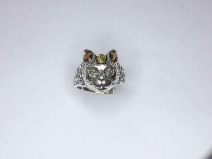 🚚 京和珠寶工坊-925純銀 貓咪戒指