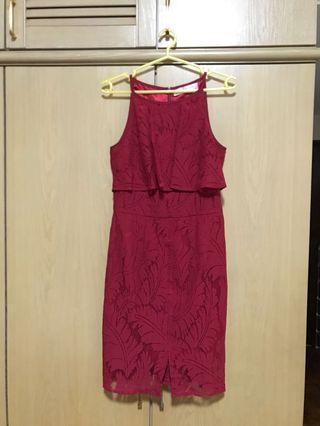 🚚 Love & Bravery Red lace dress