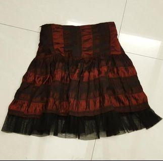 Gothic Blood Red Skirt