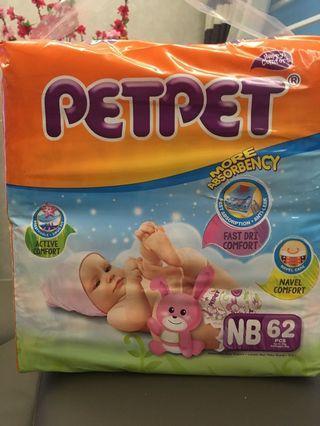 PetPet Diapers New Born