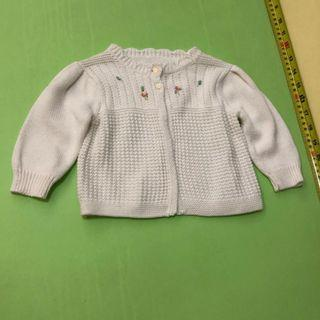 Ralph Lauren polo sweater milky white 6M      (tommy hilfiger,mothercare,jcrew, crewcuts, chickeeduck, kingcow, carter, elle, crewcuts, zara kids, baby gap, gap, disney, polo)