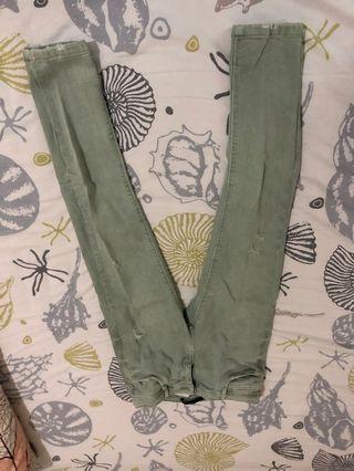 Zara jeans green