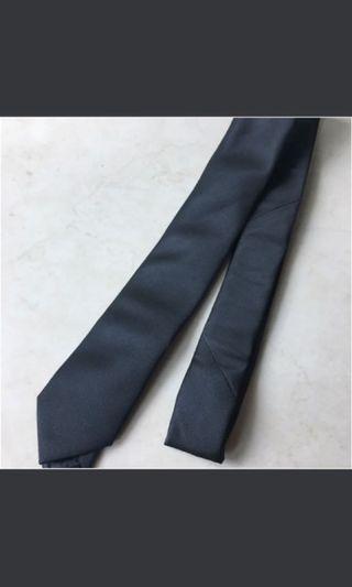 韓版窄呔 黑色暗紋