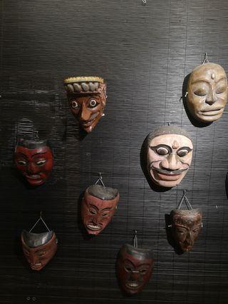 Old wooden masks from Indonesia