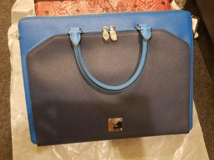 Mcm full leather briefcase document holder authentic