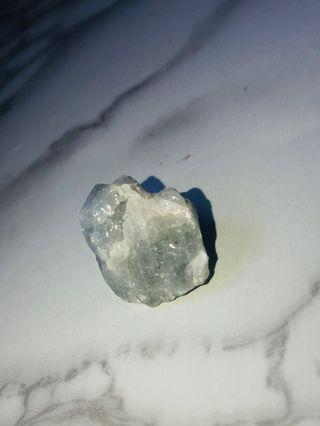 Blue calcite healing crystal