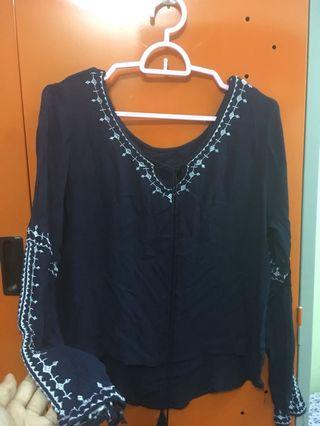 Dark blue Bohemian Top