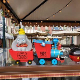 香港迪士尼樂園 小飛象 爆谷桶及紀念水杯