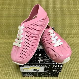 🚚 BN Mini Melissa Love System Pink / White Shoes US11 (2016)