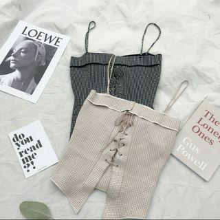 🚚 [2 COLORS] Ulzzang Tied Up Camisole #EndgameYourExcess