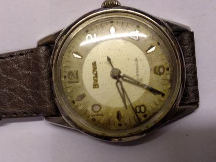 瑞士宝路華古董老表,手動上練,剛抹油,行走正常,30MM,品相如圖。