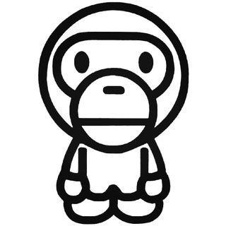 🚚 Bape Baby Milo [Car Decal / Sticker Vinyl] (Free Mailing!)