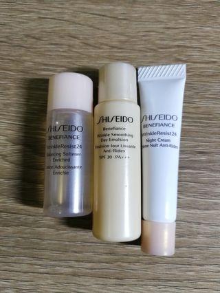 Shiseido 護膚套裝(爽膚水+乳液+面霜)
