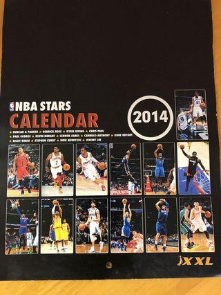 NBA Stars Calendar 2014 Kobe Lebron Irving CP3 Dirk