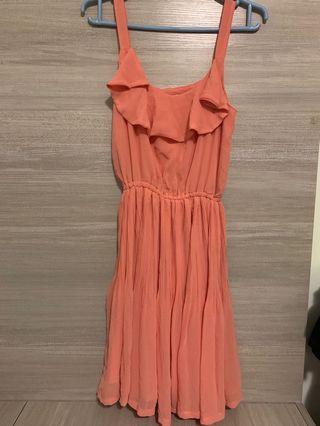 Peach colour Party Dress