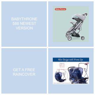Latest Promo - Babythrone XF588 Latest Version, Free Raincover With Free 5 Accessories!