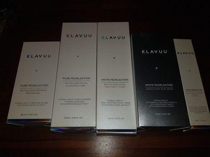 Brand new Klavuu skincare range, selling as a bundle, 5 items