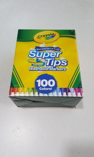 Supertips washable markers 100 colors