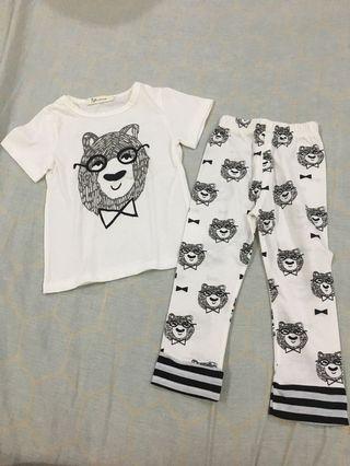 Fashion Bear Girls Pajama