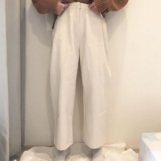 全新白色寬褲