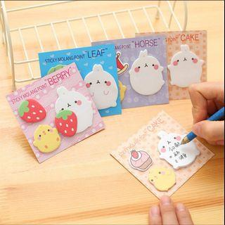 [po] cute sticky memo pads