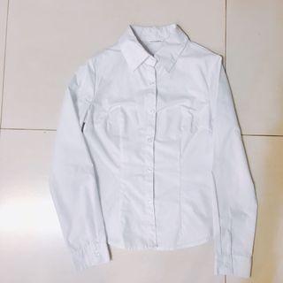 白色襯衫 正式襯衫 修身款 長袖
