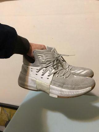 代售 adidas dame3 white 籃球鞋 US9.5